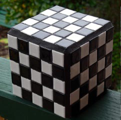 Checkered cube for sale